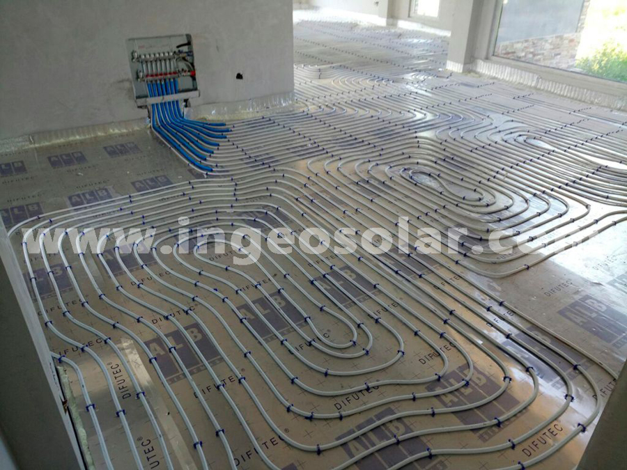 Aerotermia y suelo radiante en vivienda unifamiliar for Presupuesto suelo radiante