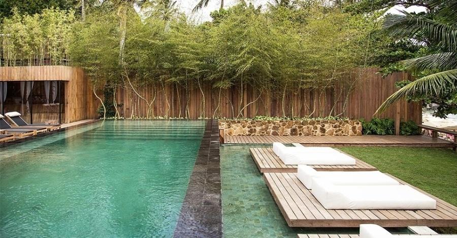 suelos madera en una terraza