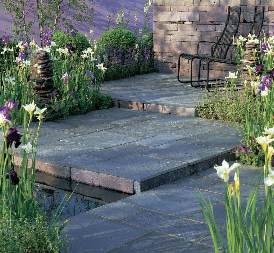 suelos de piedra para jardín