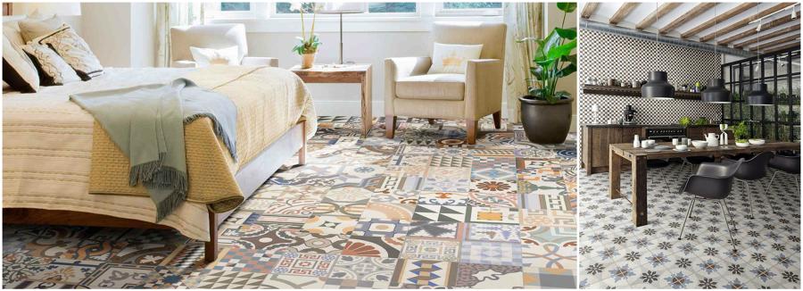 El revival de las baldosas hidr ulicas ideas decoradores - Tipos de suelos para pisos ...