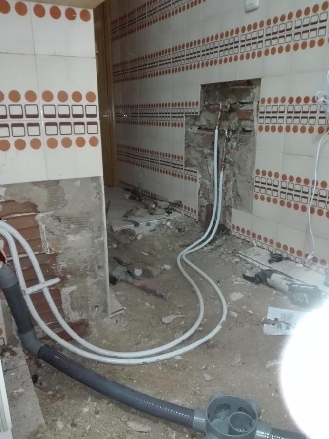 Sustitución de instalación mediante tuberías de multicapa