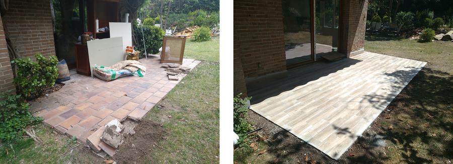 Sustitución de pavimento de la terraza