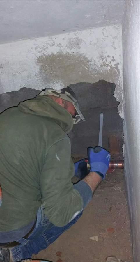 Sustitución tubería general alimentación edificio