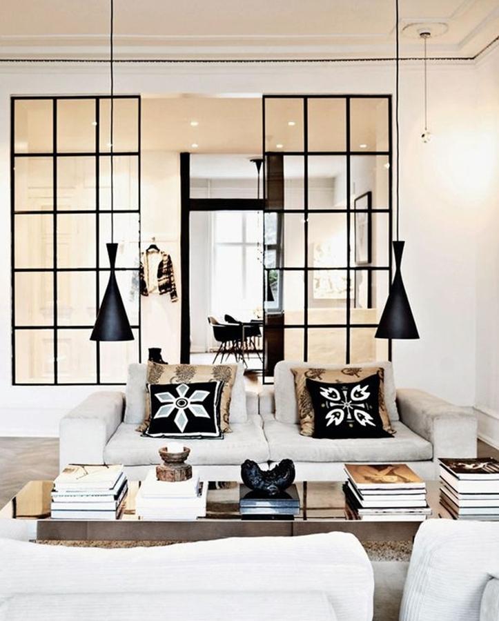 Separa ambientes con paneles y puertas de cristal ideas - Tabique de vidrio ...