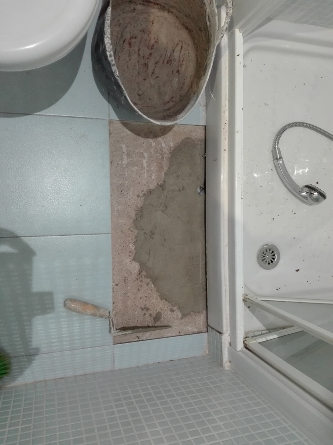Tapado de forjado mediante mortero de cemento