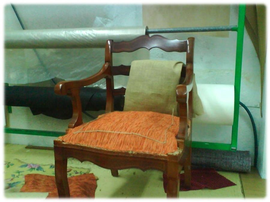 Foto tapizados de sillas con muelles de logan y guill n - Tapiceros en huelva ...