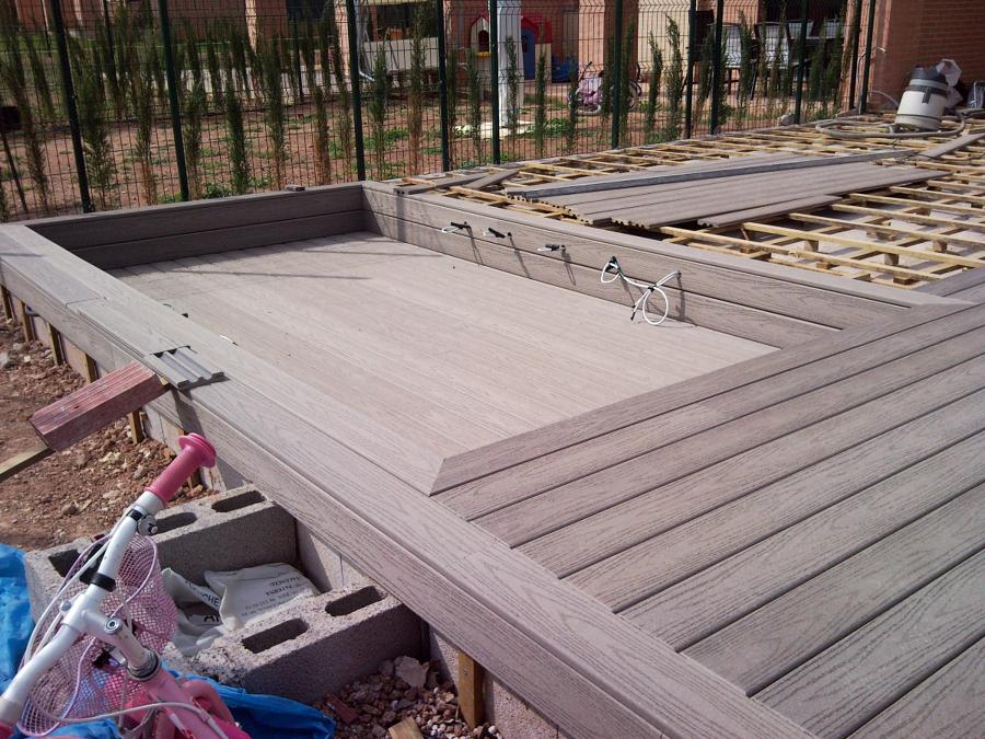 Foto tarima exterior fiberon professional gris de steffen - Tarima para exterior ...