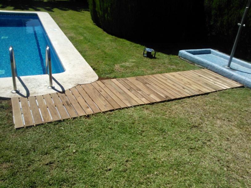 Tarima para jardin ideas jardineros - Tarima para piscinas ...
