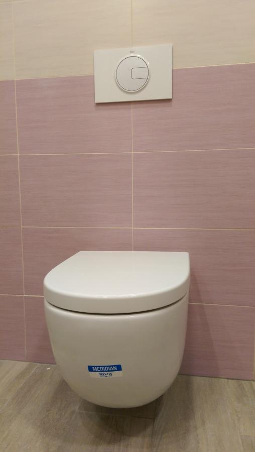 Taza suspendida - cisterna empotrada