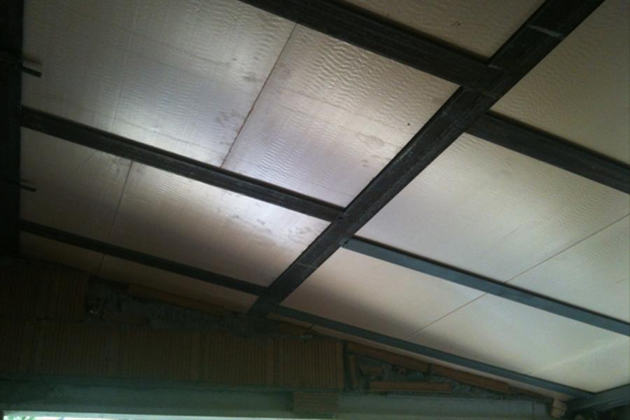 Foto techo ampliaci n cocina con aislante poliestireno - Aislante para techos ...