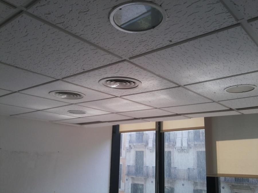 Techo con instalaciones