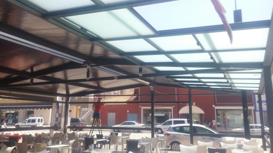 techo de cristal para terrazas