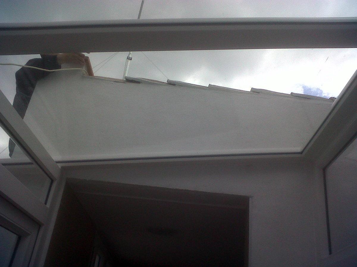 TECHO DE CRISTAL Y PVC