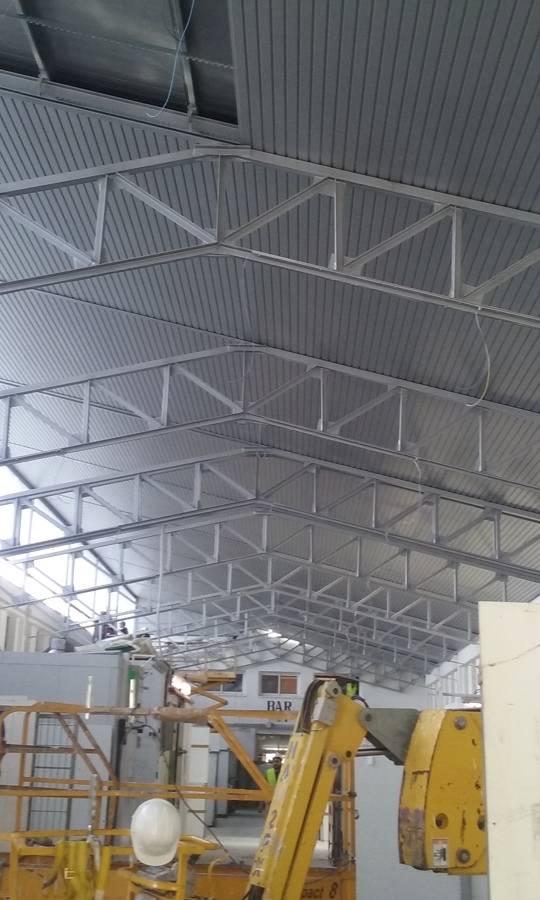 Ejemplos de trabajos realizados ideas pladur for Lamas aluminio techo