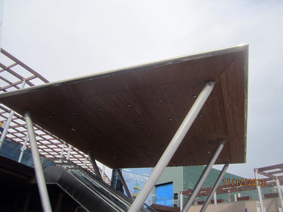 Techo de madera y HIerro