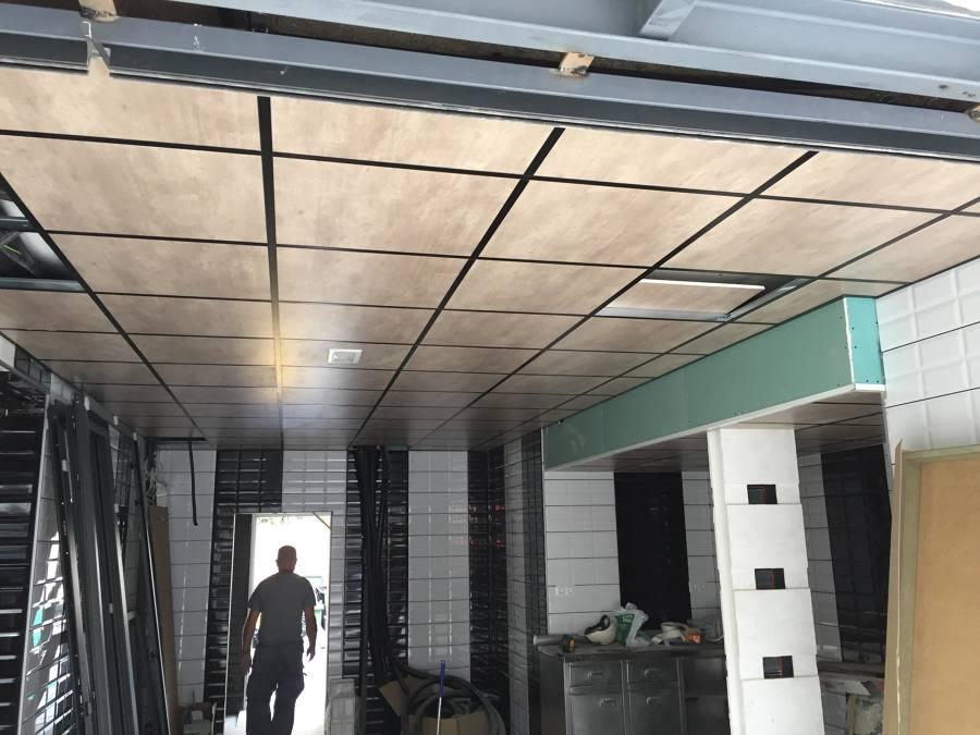 techo de pladur 60x60, casi acabado