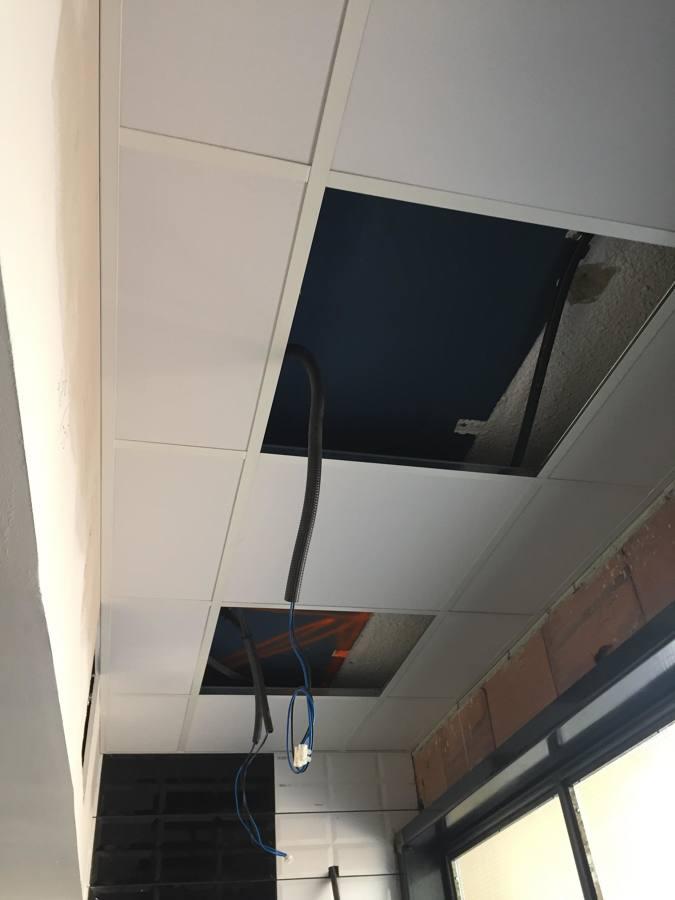 techo de pladur 60x60, en proceso