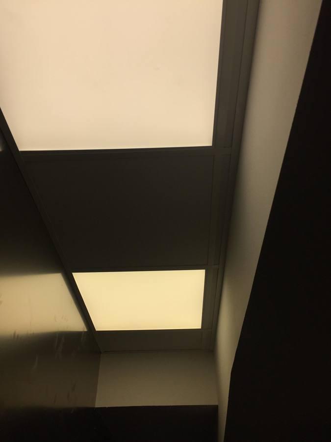 techo de pladur acabado