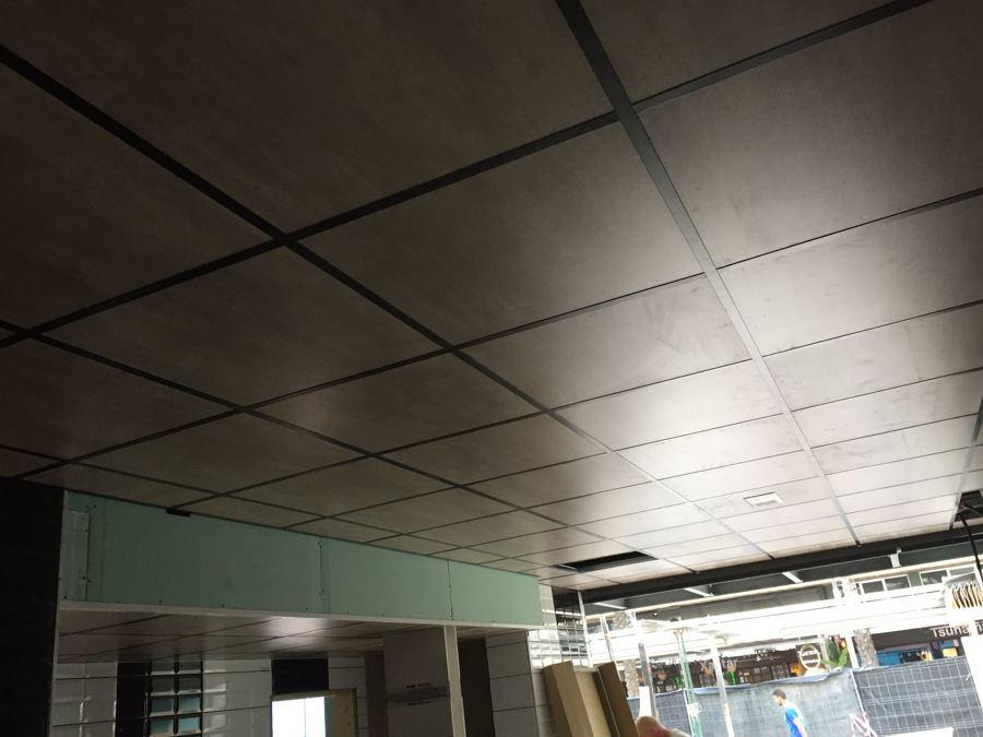 techo de pladur casi acabado