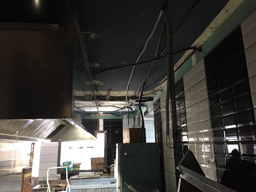 techo de pladur, en proceso