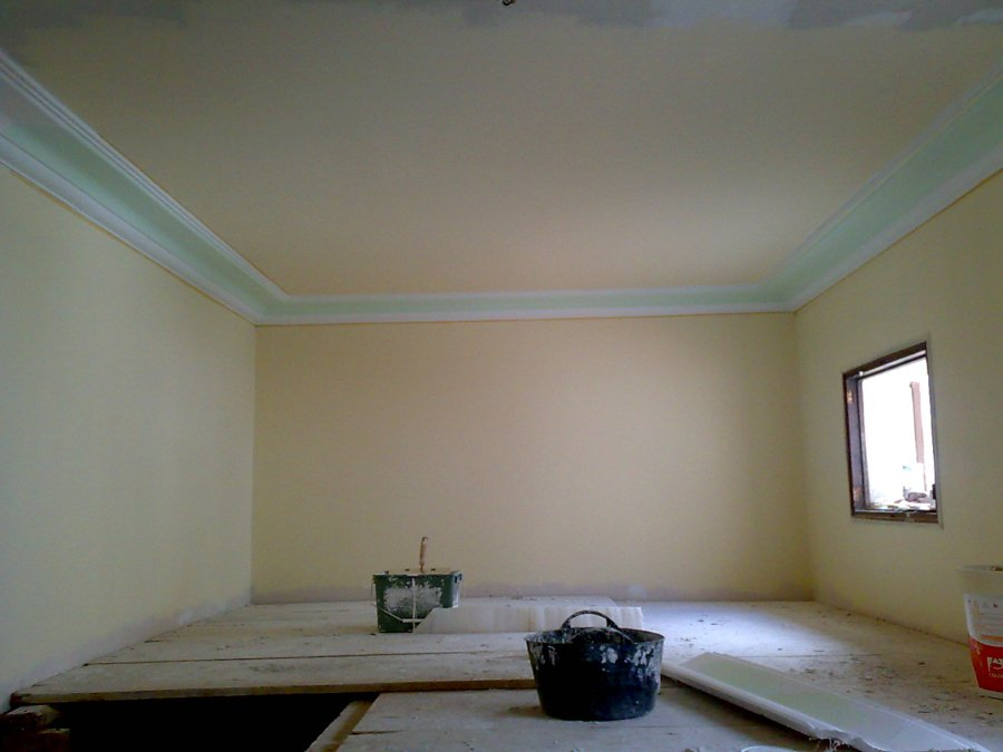 Foto techo de pladur y moldura de escayola de gonzalo raboso 197087 habitissimo - Molduras techo pared ...