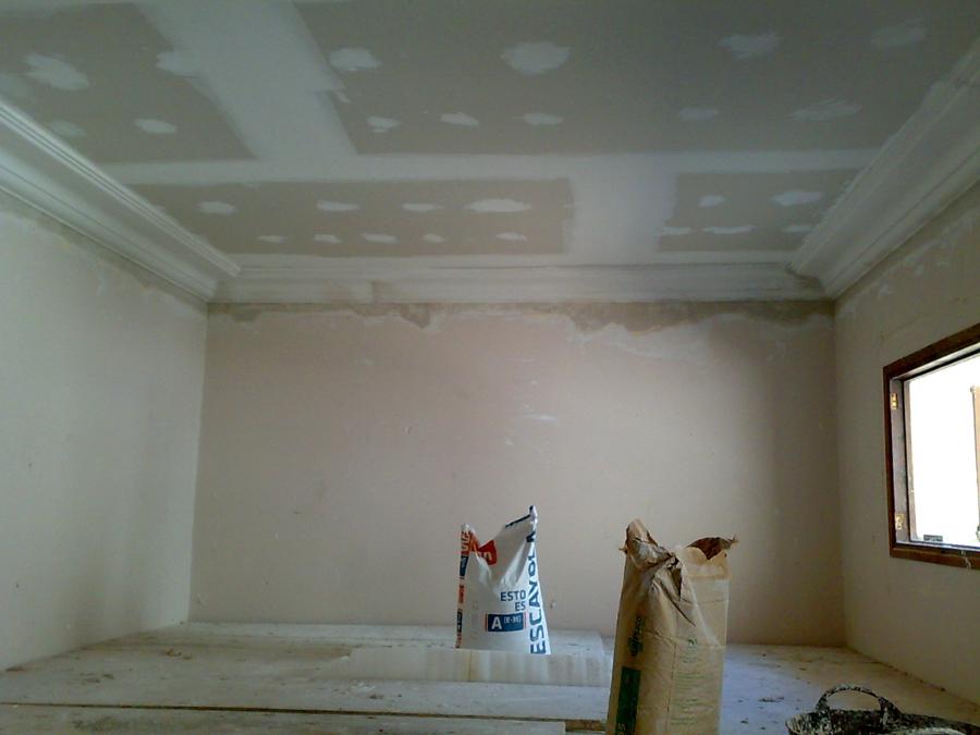 Foto techo de pladur y moldura de escayola de gonzalo raboso 197088 habitissimo - Molduras techo pared ...