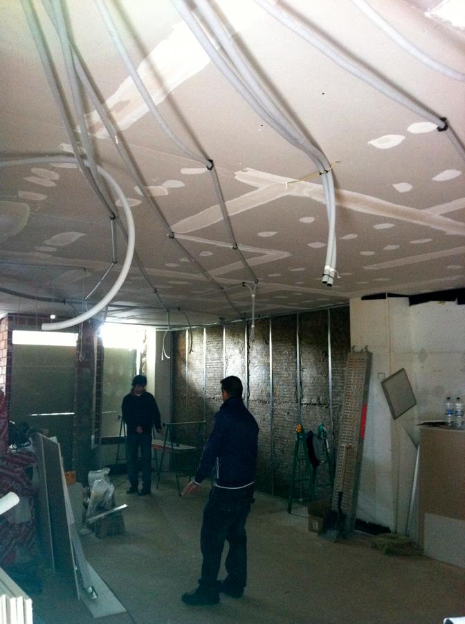 Extractor Baño Falso Techo:Cerramiento de insonorizacion en Techos, canalizando por falso techo
