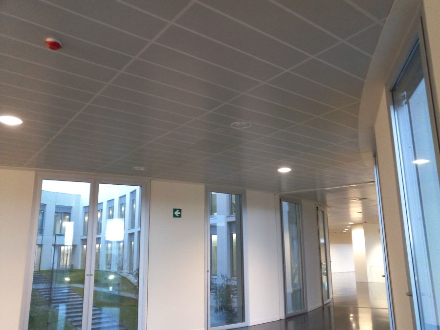 techo modular de las de aluminio.