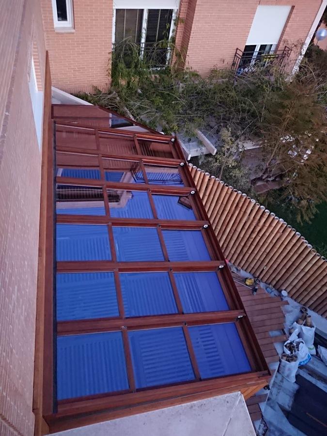 Techo Movil con cristal climalit 4/10/4+4 protecion solar
