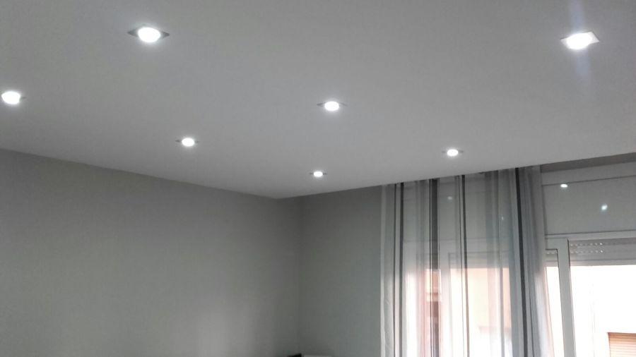 Techo pladur e iluminación led