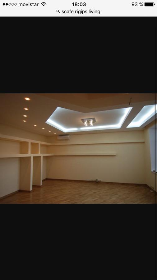 Techo salon- dormitorio pladur