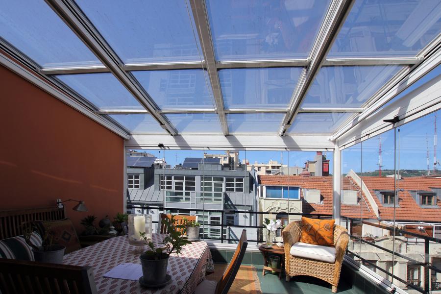 techo vidrio