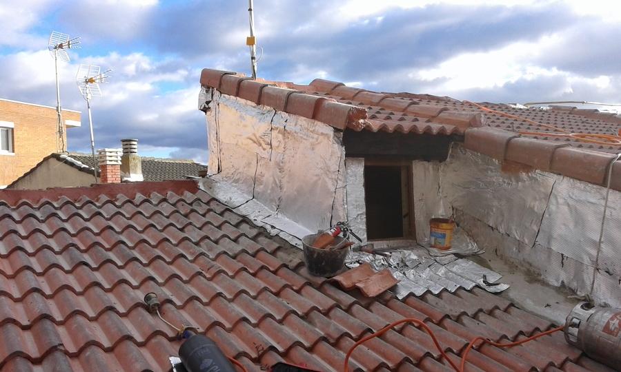 Foto tejado de aliceres construcci n 1102084 habitissimo for Tejados madera segovia