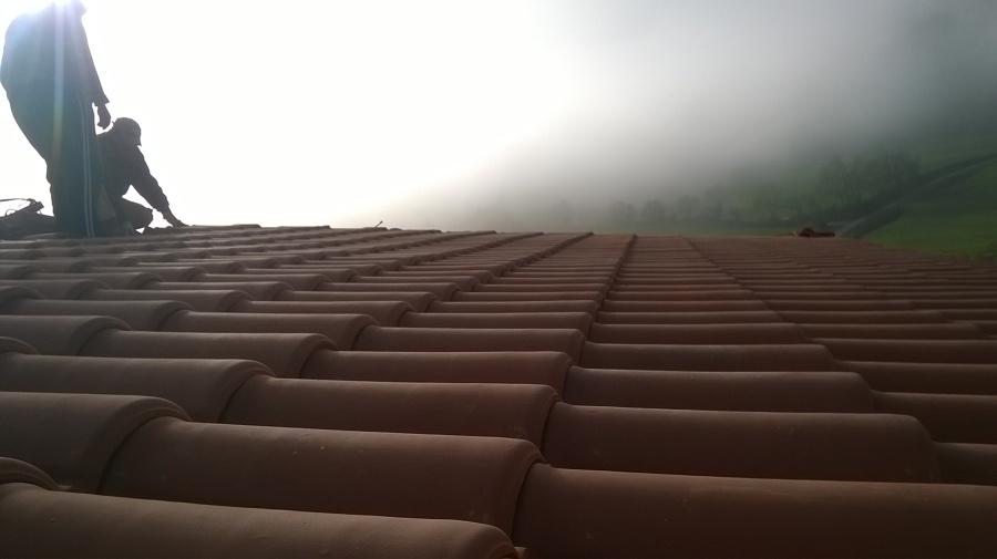 tejas colocadas