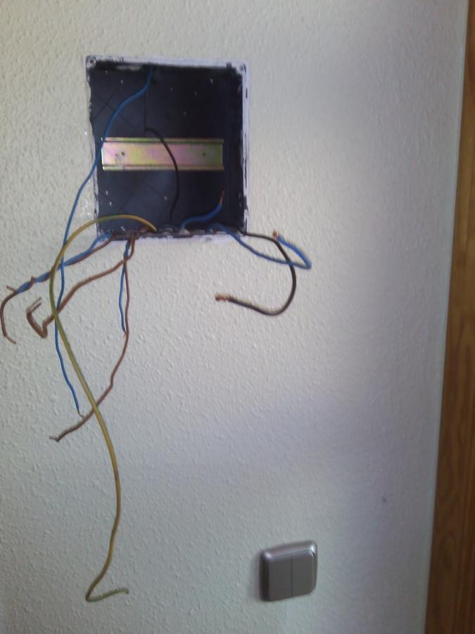 Terminación de cableado en cuadro