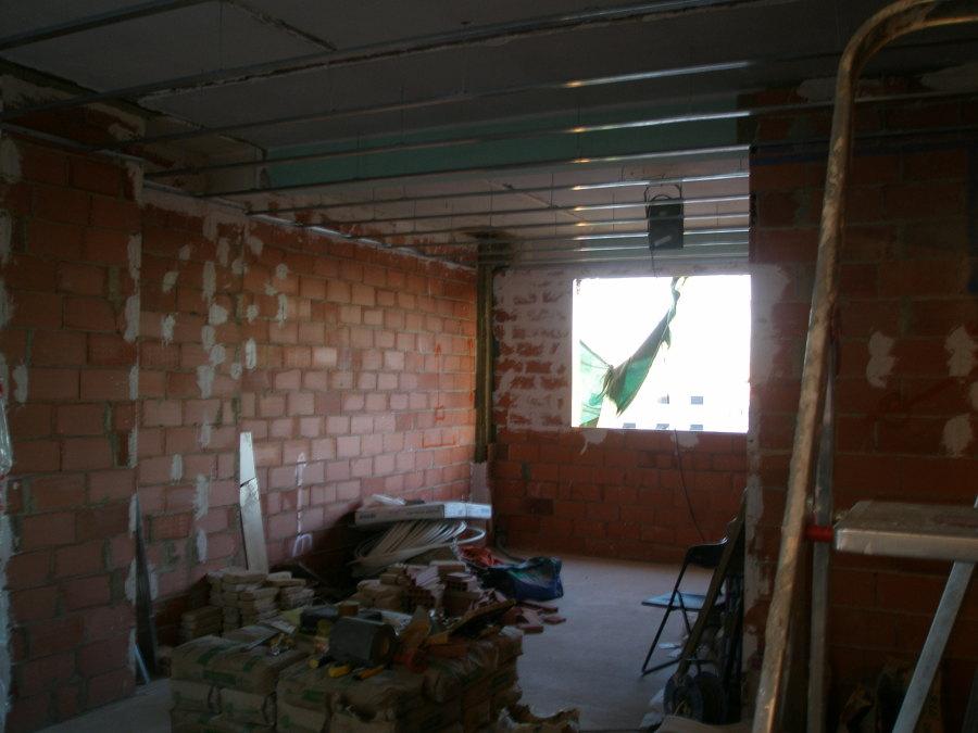 terminado doble tabique y guiado del techo pladur