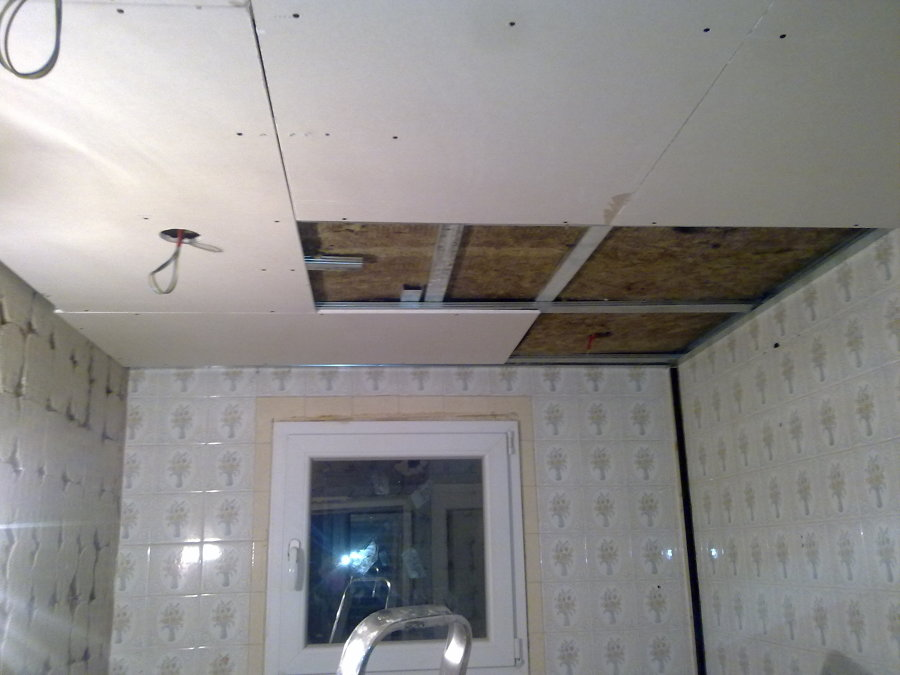 Reforma de ba o principal completo ideas pladur - Poner techo de pladur ...