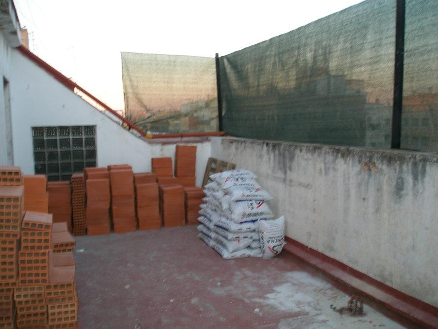 terraza antes de realizar la reforma