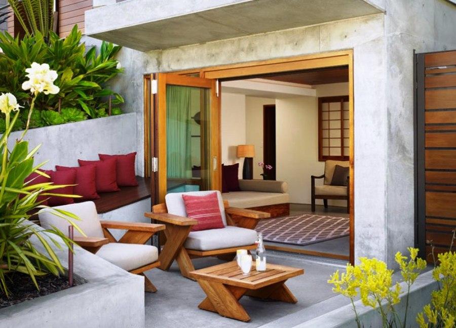 Foto terraza con asientos de obra de maribel mart nez for Asientos para terrazas