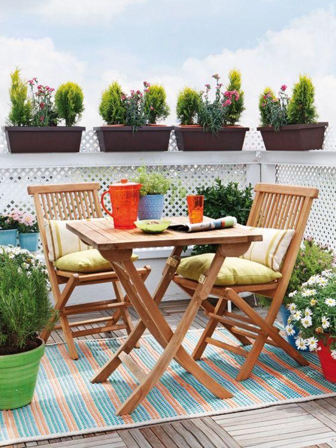 terraza con decoración