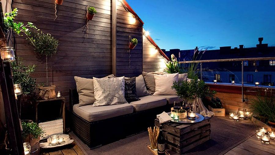 8 maneras de iluminar tu jard n o terraza ideas for Ideas de techos para terrazas