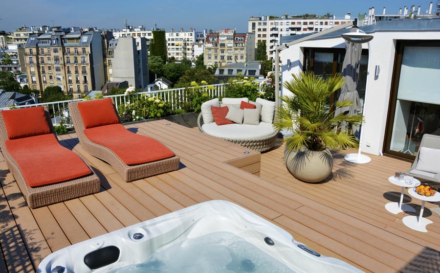 7 ideas de altura que aprendimos de terrazas en ticos ideas decoradores - Jacuzzi para terraza ...