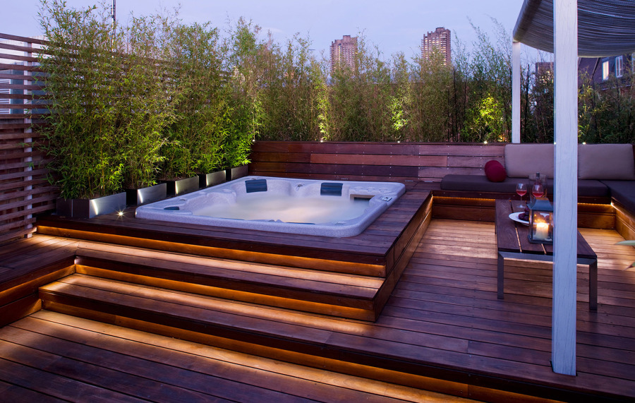 Foto terraza con jacuzzi de irene villaverde basagoitia - Precios de jacuzzi para exterior ...