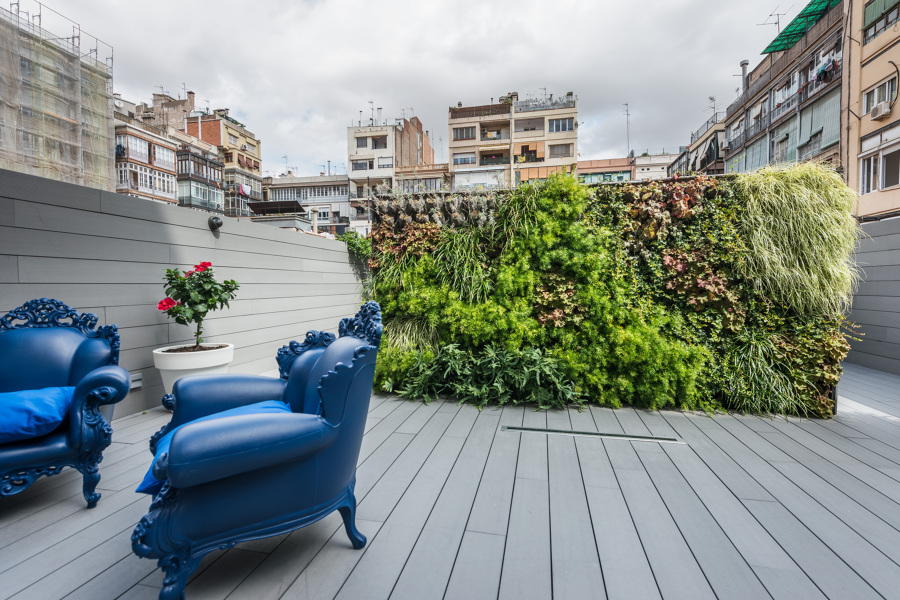 Foto terraza con jard n vertical de standal 981178 - Jardin vertical terraza ...