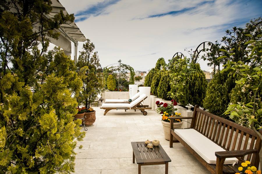 terraza con suelo de gres