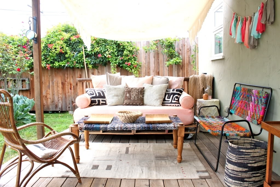 Foto terraza con tarima madera de marta 1133659 for Baldosones para terrazas