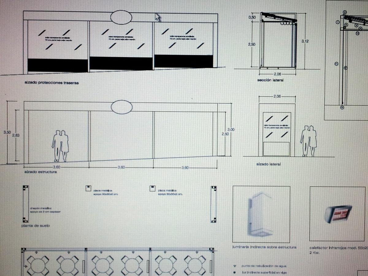 Terraza de veladores con cerramiento estable ideas licencias - Cerramiento terraza sin licencia ...