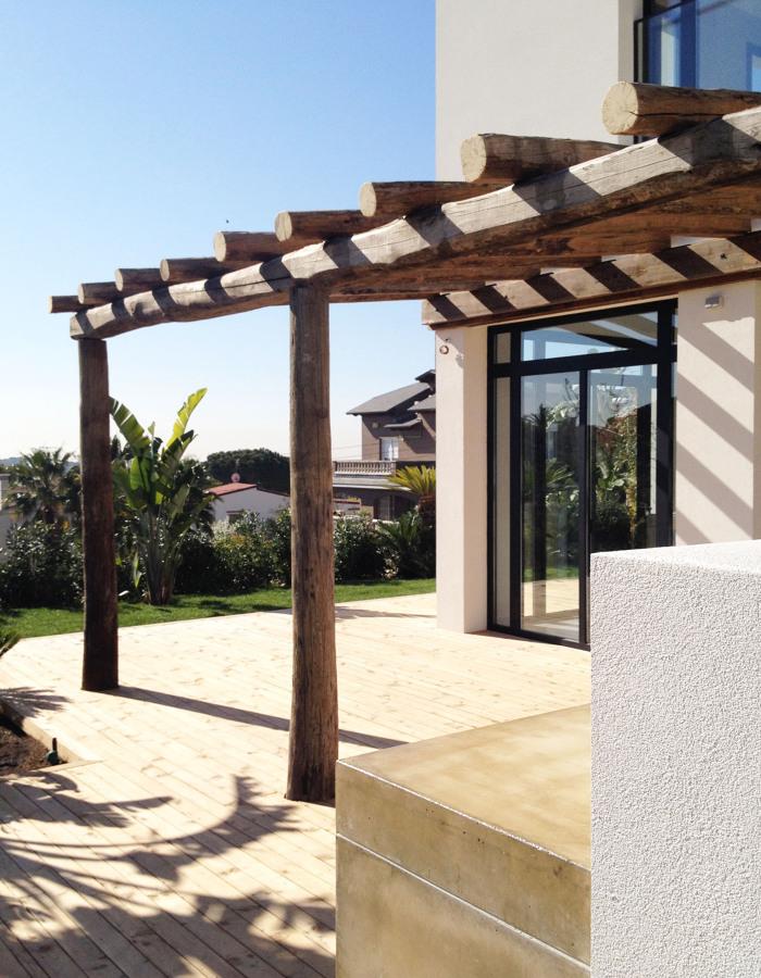 Terraza del jardín - Casa A | 08023 Arquitectos - Barcelona