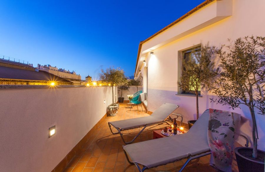 Terraza en apartamento turístico