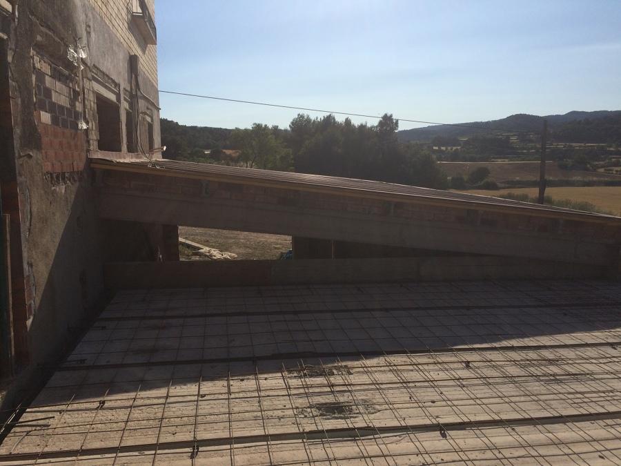 Terraza en construcción